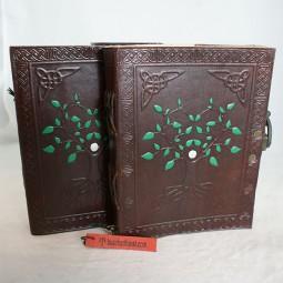 Sommerangebot: Lederbuch mit Baum-Motiv
