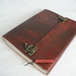 Lederbuch punziert mit Motiv, groß