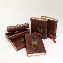 kleines, dünnes Leder Notiz- / Tagebuch S, punziert (braun)