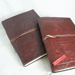 Gäste- / Skizzenbuch geschnürt, Bücherrabe od. Lebensbaum