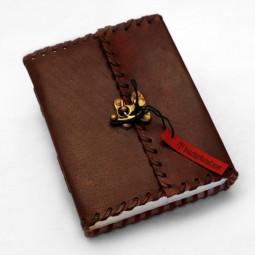 Lederbuch M plain