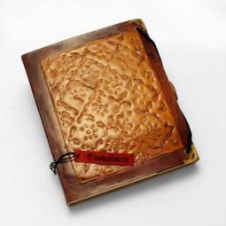 Lederbuch M Emaille