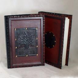 Buchhülle / Lederbuch mit Motiv (groß)