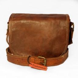 Leder Handtasche uni