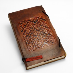 Lederbuch L Emaille