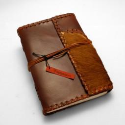 Lederbuch L Patchwork