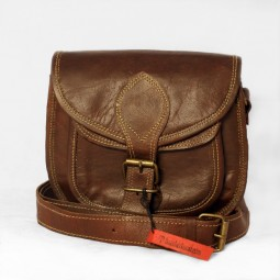 Leder Handtasche dunkel