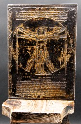 Da Vinci Lederbuch/hülle