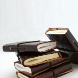 Mini-Leder-Notizbuch xxs