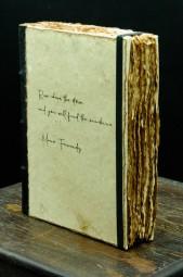 Buch mit Spruch und hochwertigem Papier