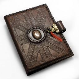 Leder-Ringbuch-Ordner A5 Meisterstück mit Stein