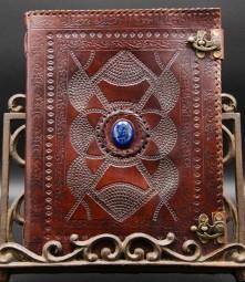 Skizzenbuch / Gästebuch mit Stein, groß