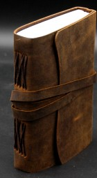 Büffellederbuch, schlicht