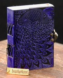 Lederbuch lila mit Motiv