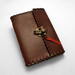 Lederbuch L plain