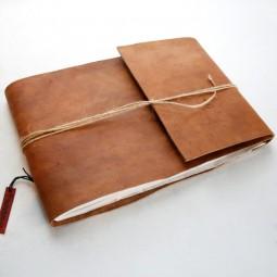 Gästebuch handgegerbt quer